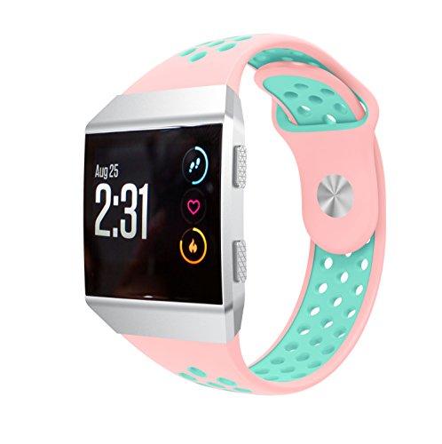 TopTen Armband, verstellbar, Sport-Armband, Ersatz, Zubehör, Armband für Fitbit Ionic Smartwatch M rose