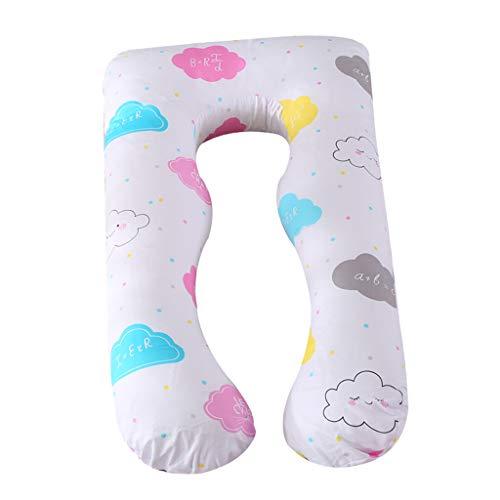 Homyl Cuscino per maternità Accessorio da Donna Incinta Cuscino a Forma di U in Cotone - Giorno Soleggiato