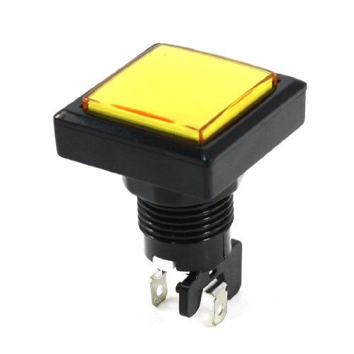 radio-shack-spst-interruttore-momentaneo-giallo-testa-quadrata-a-pulsante-per-gioco-in-lavatrice