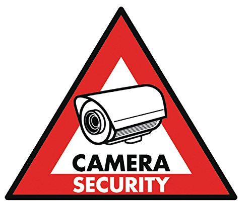 Eurosell - Aufkleber Set Camera Security System - Alarmanlage Aufkleberset Warnhinweis 5 Stück