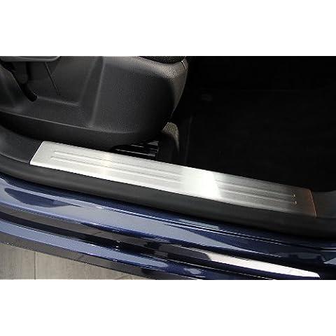 Interni in acciaio inox battitacco con bordi arrotondati due volte per VW TIGUAN anno 2007-12/2015