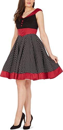 'Sylvia' Vintage Polka-Dots Pin-up-Kleid - 4