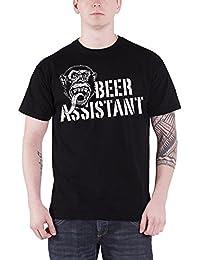 Gas Monkey Garage T Shirt Beer Assistant Monkey Logo Oficial de los Hombres