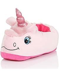 Kenmont - Pantuflas, diseño de unicornio de peluche, algodón