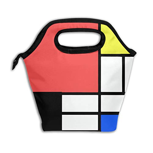 ec0ba6b029ee Bidetu Mondrian Style Lunch Bag Insulated Lunch Box Reusable Lunch Tote  Cooler Organizer Bag Lunch Bags for Women,Men and Kids Adults