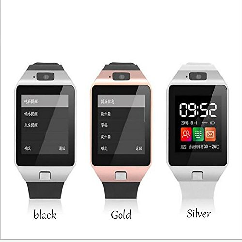 Student Smart GPS Positioning Phone Watch The Elderly Blood Pressure Healthy Heart Rate Silver