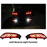 PR Car Reflector Led Brake Light for Bumper(Rear/Back) Drl For Hyundai I20 Elite(with Reverse Light Function)- Set of 2 Pcs with wiring