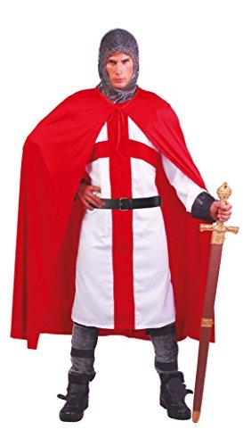 Mann Märchen Kostüm - Fiestas Guirca Mann Kostüm Kreuzritter Verkleidung mit Ritter Umhang