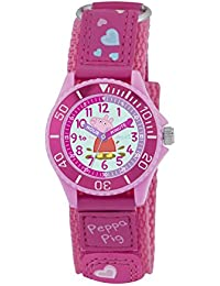 Peppa Pig Girl's Quartz Watch with Pink Dial Analogue Display and Pink PU Strap PP005