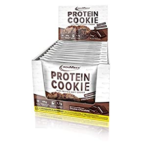 IronMaxx Protein-Cookie – low carb Protein-Snack mit 39g Eiweiß je Cookie – 1 x 75 g in Double Chocolate