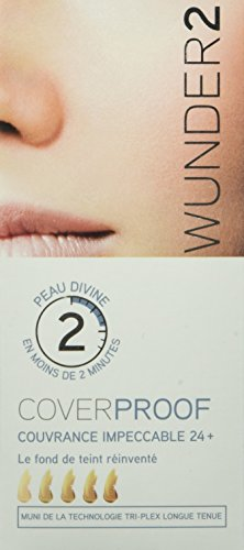 WUNDER2 COVERPROOF Faultless 24+ Full Coverage Waterproof Foundation for Perfect Skin - Liquid Foundation Makeup, Medium Skin