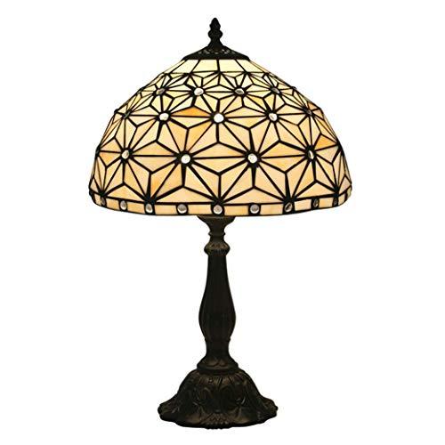 Nouveau Füße (Tiffany Style Schreibtischlampe/Leselampe, 12-Zoll-Schreibtischlampe im Europäischen Stil aus Minimalistischem Glas mit Fuß aus Zinklegierung, Creative Antique Table Light, Nachttischlampe, BOSS L)