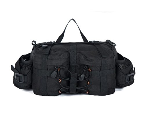 LJ&L Outdoor 6L Kapazität Tarnung Camping Ausrüstung Taschen, multifunktionale taktische Outdoor Wandertaschen, Nylon langlebige Verschleißtaschen A5