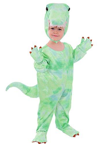 Kostüm Echte Dinosaurier - T - Rex grün Kinder Kostüm 110 / 116 Kinderkostüm Drache Dino Dinosaurier Fasching Karneval Rummelpott Tyrannosaurus