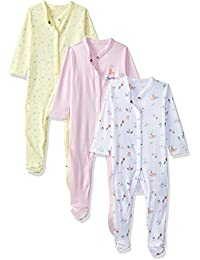 Mothercare Baby Girls' Sleepsuit (Pack of 3)