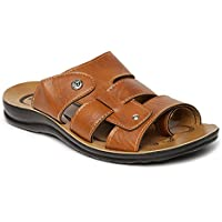 PARAGON Men's Brown Formal Thong Sandals - 8 UK/India (42 EU)(PU6686-85)