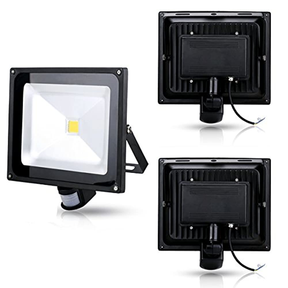 50W LED Fluter mit PIR Bewegungssensor Flutlichtstrahler Neutralweiß Kaltweiß