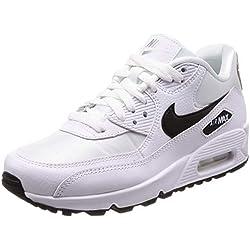 Nike WMNS Air Max 90, Chaussures de Running Femme, Multicolore (White/Black-Reflect Silver 137), 38 EU