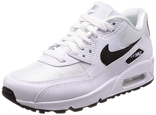 Nike Wmns Air Max 90 Damen Sneakers, Mehrfarbig (White/Black/Reflect Silver 137), 38 EU