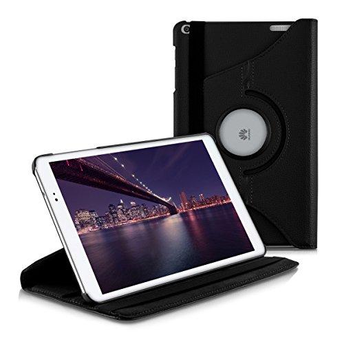 kwmobile Funda para Huawei MediaPad T1 10 - Carcasa [360 Grados] de [Cuero sintético] para Tablet en [Negro]