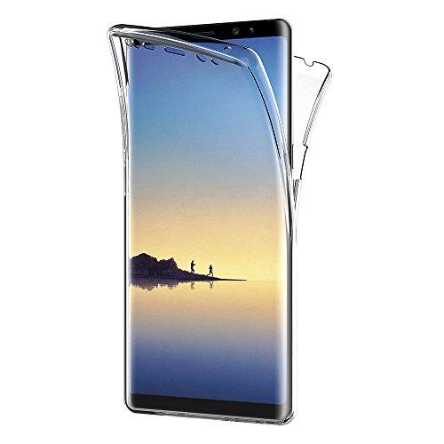 Funda Samsung Galaxy Note 8, AICEK Transparente Silicona 360°Full Body Fundas para...