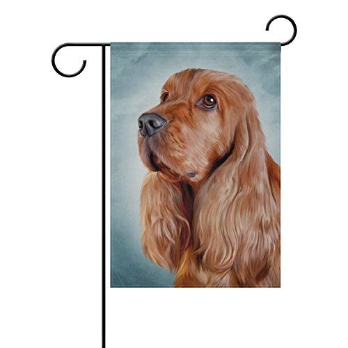 ALAZA My Daily English Cocker Spaniel Hund Deko doppelseitig Garden Flagge 12x 18& 71,1x 101,6cm (Große Winter-outdoor-flags)