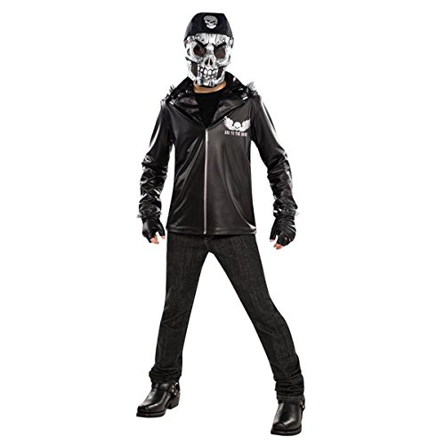 New Amscan Teens Halloween Ghost Rider Bad to The Bone Jungen Fancy Dress Party (Ghost Rider Kostüm Maske)