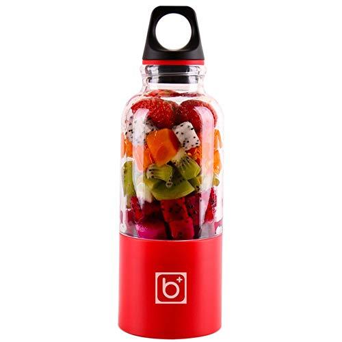 XIAOYUTOU Sonnenbrille, 500 ml, tragbar, Saftbecher, USB, wiederaufladbar, elektrisch, automatisch, Bingo, Gemüse, Obst, Saft, Werkzeuge, Mixer, Flasche rot