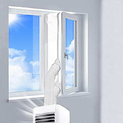 400CM Universal Window Seal for Portable Air Conditioner And Tumble Dryer - Works with Every Mobile Air-Conditioning Unit, Airlock/Hot Air Stop - Easy to Install - No Need Drilling Holes?Upgrade?