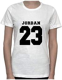 DreamGirl Basketball Memorabilia. NBA Inspired Artwork. Jordan 23 Womens T-Shirt