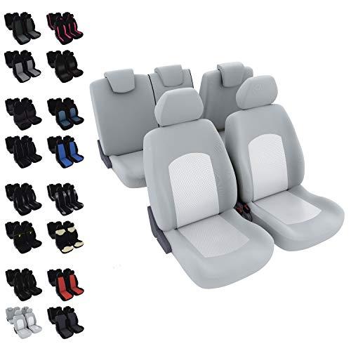 DBS - Housses de sièges - Voiture/Auto - 5 sièges - Gris - Universelles - Anti-dérapant - Lavable
