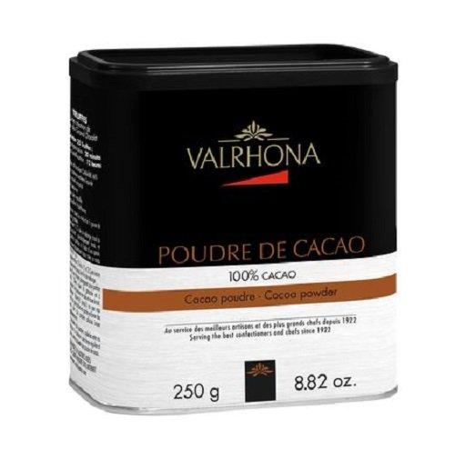Kakaopulver, stark entölt, 10% Kakaobutter, Valrhona, 250g PACKUNG