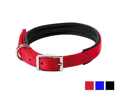 Farm Company Collare in nylon imbottito - Disponibile in varie colorazioni e misure (Rosso, 2x50 cm)