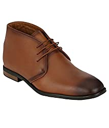 Boggy Confort Mens Tan Leather Formal Shoes (9)