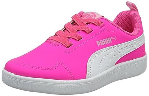 Puma Unisex-Kinder Courtflex PS Low-Top, Pink (Knockout Pink-Puma White 04), 30 EU