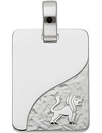Silber 925 Sterling Silver Sternzeichen Anhänger - Löwe - B. 13,6 mm - H. 18,2 mm