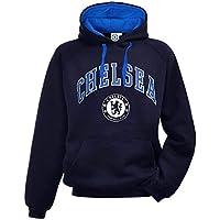 Offizieller Chelsea FC (Premier League) Kapuzenpullover für Erwachsene, Größen S bis 2XL, Blau