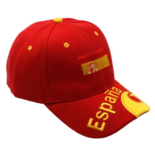 WM/EM Spagna Fan Cap-Colori a Scelta-Rosso