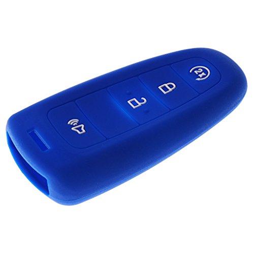 ELECTROPRIME Dark Blue+Luminous Car Key Case Fob Protector Conversion Kit for Ford Edge