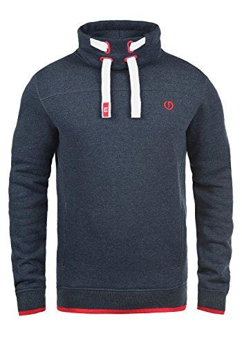 !Solid Benjamin Herren Sweatshirt Pullover Pulli Mit Stehkragen Und Fleece-Innenseite, Größe:XL, Farbe:Insignia Blue Melange (8991)