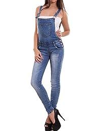 104eba468e69 Toocool - Salopette Donna Jeans Overall Tuta Intera Tutina Skinny Sexy  Strappi Nuova 6153-MOD