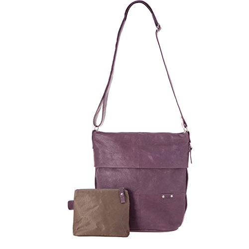 Zwei, Borsa a spalla donna Verde Green - Green (Grün) Viola (Purple - Violet (Lila))
