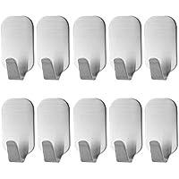 KOUZEN Ganchos de Pared Ganchos Adhesivos 12-PCS 3 M Palo Percha para Torre, Bolsos, Abrigo, Ropa, baño y Dormitorio