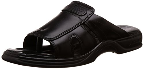 Red Chief Men's Black Leather Sandal - 8 UK/India (42 EU)(RC0215)  available at amazon for Rs.1529