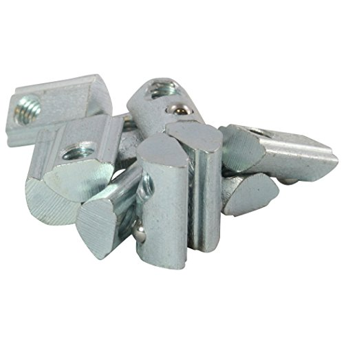 100x Nutenstein 5 St M5 Nut 5 - Typ I - M5 mit Steg, Federkugel, Stahl verzinkt