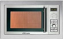 Orbegozo MIG 2325 – Microondas con grill integrable full INOX, 23 litros de capacidad, 8 niveles de potencia, 9 menús de cocción automática, display digital, potencia 900 W microondas y 1000 W grill