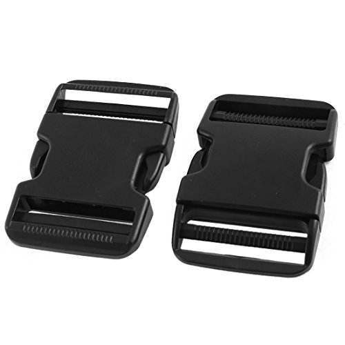 sourcing map Plastic Backpack Pack Spare Part Lateral Quick Release Buckles Closure 2 Parts