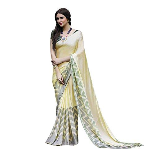 Craftsvilla Women's Satin & Silk Embellished Designer Multicolor Saree with blouse piece