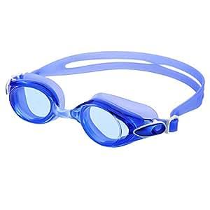 Occhiali da Nuoto, Occhiali da Immersione, Occhiali da Nuoto con Anti-nebbia, Anti-UV Lenti, Anti-riflesso Specchio, Morbido Silicone Telaio e Guarnizioni, Regolabile Testa Cinghia e Naso Ponti per Adulti Uomini e Donne-Blu