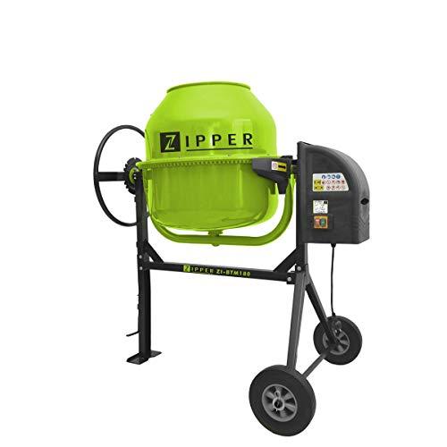 Hormigonera electrica 180 litros Zipper ZI-BTM180 800W 29,5rpm piñon de hierro